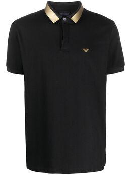 Emporio Armani metallic collar polo shirt 3H1F691JPGZ