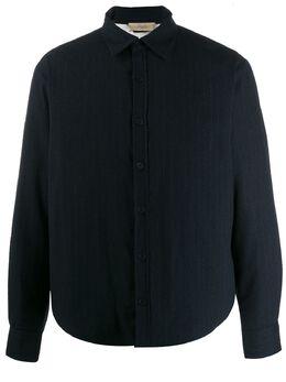 Maison Flaneur куртка-рубашка в тонкую полоску 19WMUJB100TP246