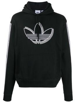 Adidas embroidered trefoil hoodie FM1503