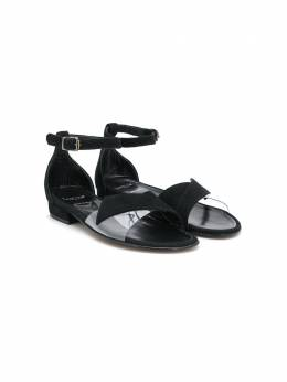 Lanvin Enfant сандалии с перекрестными ремешками 59967V3T