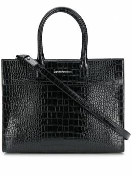 Emporio Armani сумка-тоут с тиснением Y3A118YFN5E