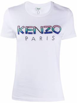 Kenzo футболка с эффектом градиента и пайетками FA52TS821936
