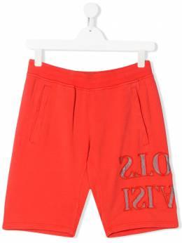 Stone Island Junior TEEN reverse logo printed shorts MO721661240