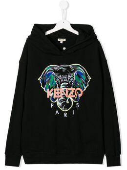 Kenzo Kids embroidered elephant hoodie KQ15698