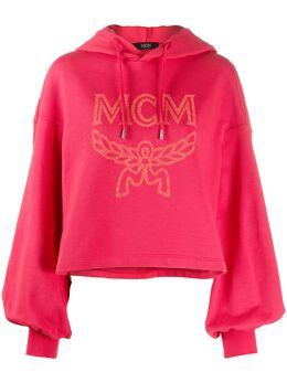 MCM logo-print cropped hoodie MFAASMM04