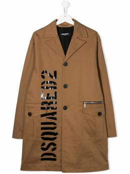 Dsquared2 Kids TEEN logo print coat DQ03VRD00XC
