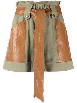 Twin-Set расклешенные шорты с поясом 201TT2213S12360