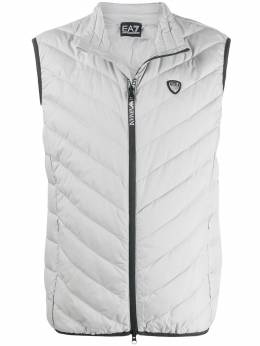 Ea7 Emporio Armani padded logo plaque gilet jacket 8NPQ03PNE1Z