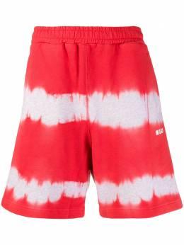 MSGM спортивные шорты с принтом тай-дай 2840MB62207097
