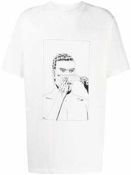 424 футболка с короткими рукавами и принтом 80180599150