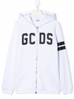 GCDS Kids худи на молнии в полоску 022520