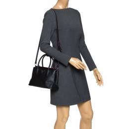 Prada Black Saffiano Cuir Leather Twin Bag 272623