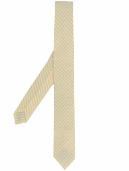 Thom Browne полосатый галстук из сирсакера MNL001A06127