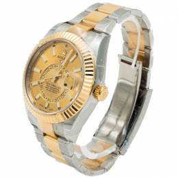 Rolex Champagne Dial Sky Dweller Steel & Yellow Gold Men's Watch 42MM 272779