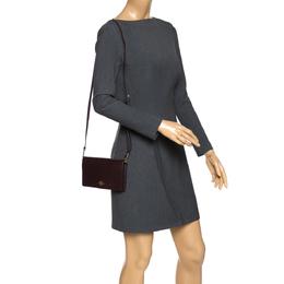 Coach Burgundy Leather Crossbody Bag 272684