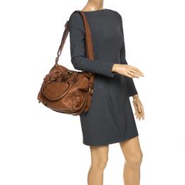 Chloe Brown Leather Large Paddington Shoulder Bag