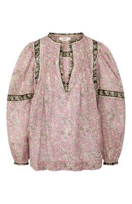 Хлопковая рубашка Isabel Marant Etoile HT1665-20P028E/VI0LETTE
