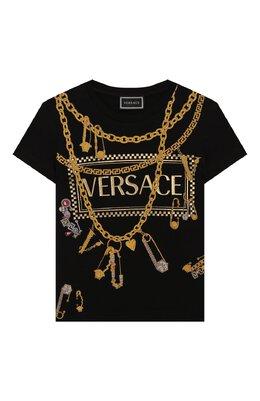 Хлопковая футболка Versace YC000214/YA00019/8A-14A