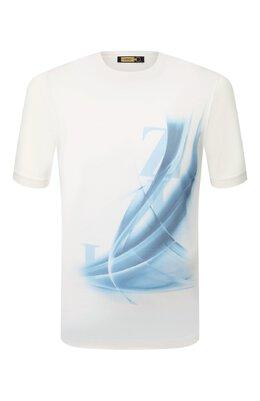 Хлопковая футболка Zilli MET-NT330-LETT1/MC02
