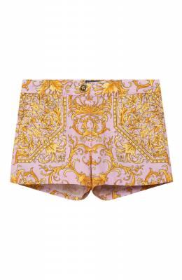 Хлопковые шорты Versace YA000131/A232779