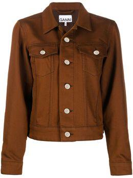 Ganni куртка на пуговицах с воротником F4665