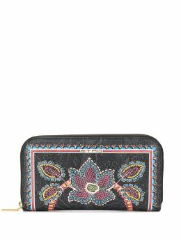 Etro кошелек с круговой молнией и цветочным принтом 1N0822249