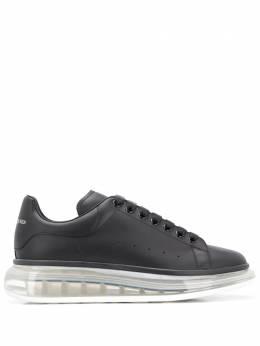 Alexander McQueen кроссовки Oversized на прозрачной подошве 604232WHX98