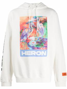 Heron Preston худи с принтом и нашивкой HMBB007S208960210188