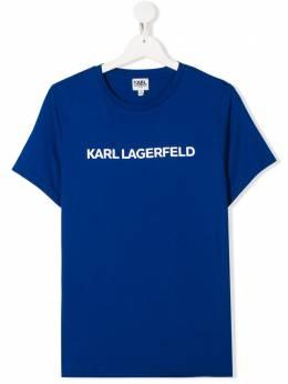 Karl Lagerfeld Kids футболка с логотипом Z25219829