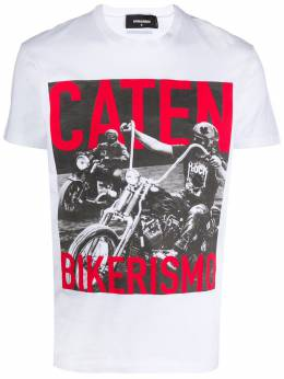 Dsquared2 футболка с принтом Caten Bikerismo S74GD0650S22427