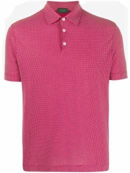 Zanone рубашка-поло с короткими рукавами 811818ZY345