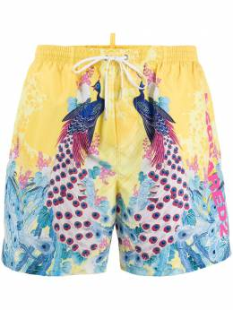 Dsquared2 peacock swim shorts D7B543360ISA01