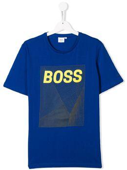 Boss Kids TEEN logo print T-shirt J25E70829