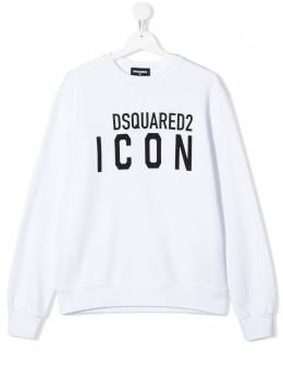 Dsquared2 Kids TEEN ICON logo printed sweatshirt DQ04EWD2S393UT