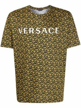 Versace safety pin print T-shirt A86003A233799