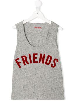Zadig & Voltaire Kids TEEN friends print vest X15219A35