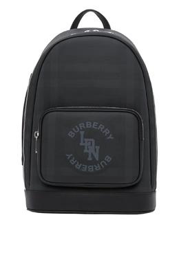 Темно-серый клетчатый рюкзак Burberry 10188373