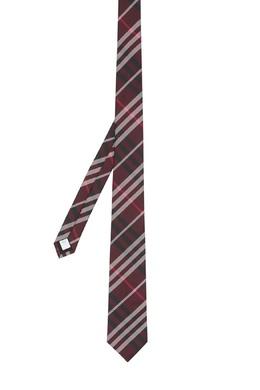 Бордовый галстук в клетку Burberry 10187900