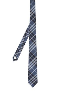 Синий галстук с узором Burberry 10188256