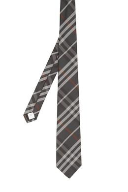 Темно-серый галстук с узором Burberry 10188257