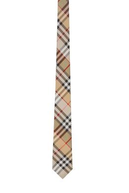 Бежевый шелковый галстук Burberry 10188338