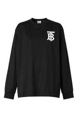 Черный джемпер с логотипом Burberry 10188434