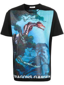 Valentino футболка Dragon Garden с короткими рукавами TV0MG06P69H