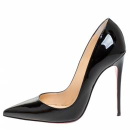 Christian Louboutin Black Patent Leather So Kate 120 Pointed Toe Pumps Size 36 273057