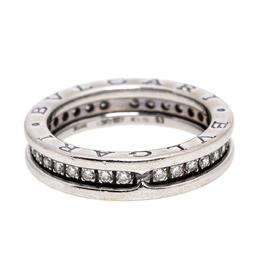 Bvlgari B.Zero1 Diamond 18K White Gold 1 Band Ring Size 53 273062