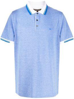 Michael Kors рубашка-поло с отделкой в полоску CS95HBJ4ZC