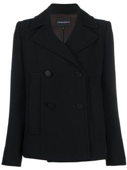 Emporio Armani короткий двубортный пиджак 3H2B622NWCZ