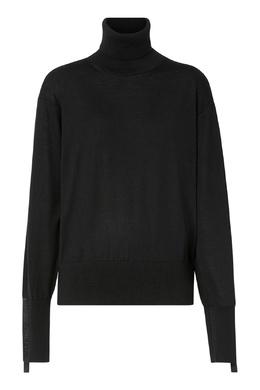 Черный свитер с декором на рукавах Burberry 10188682