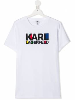 Karl Lagerfeld Kids TEEN logo print T-shirt Z2522610B