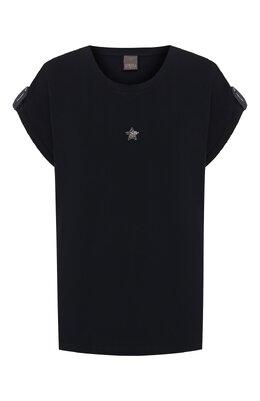 Хлопковая футболка Lorena Antoniazzi P2043TS025/9999